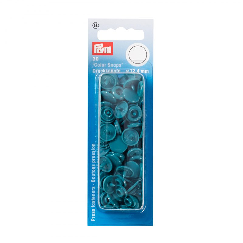 boutons pression  color snaps turquoise fonce 12,4 mm