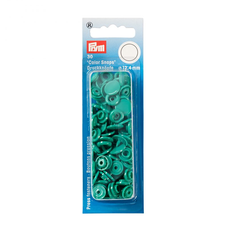 boutons pression  color snaps vert 12,4 mm