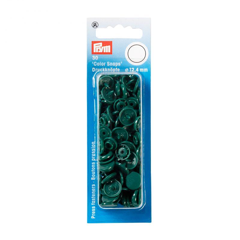 boutons pression  color snaps vert fonce 12,4 mm