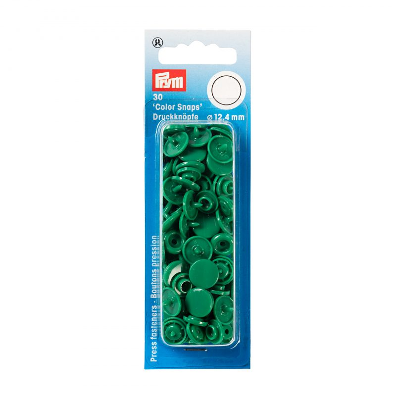 boutons pression  color snaps vert herbe 12,4 mm