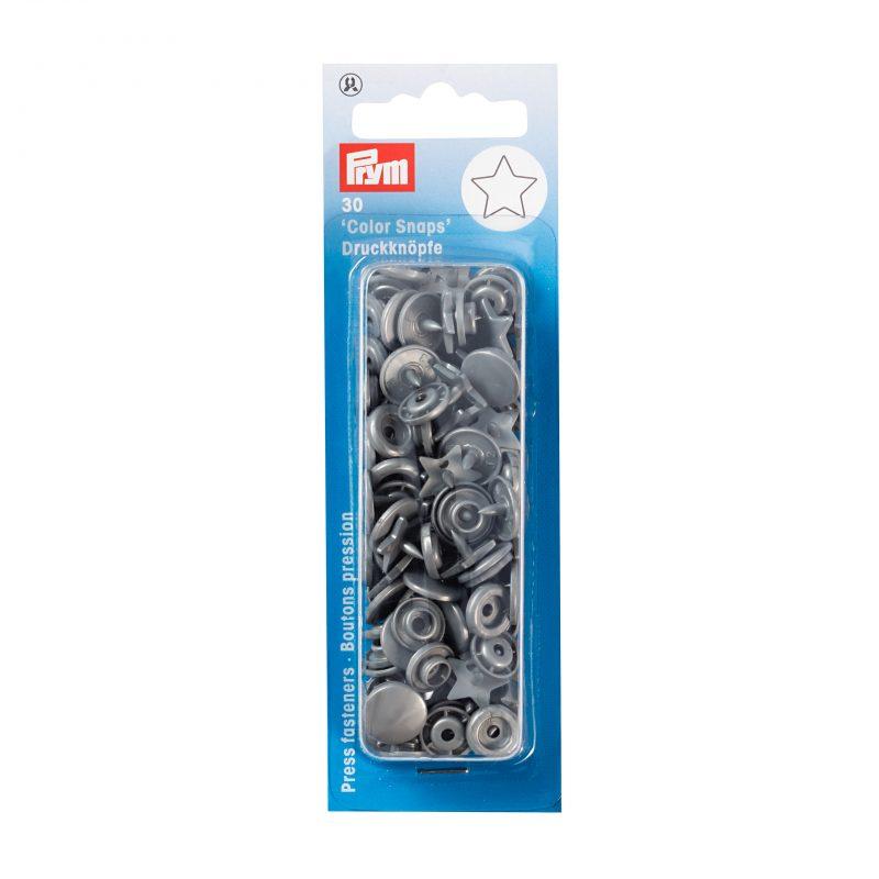 boutons pression  color snaps etoile gris arg