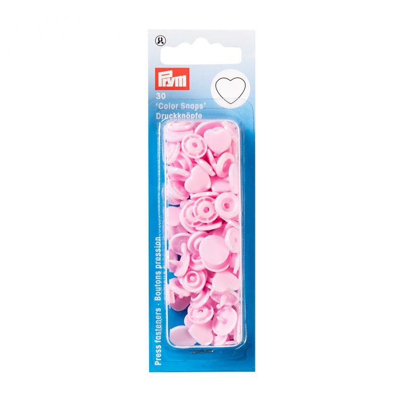 boutons pression  color snaps cŒur rose