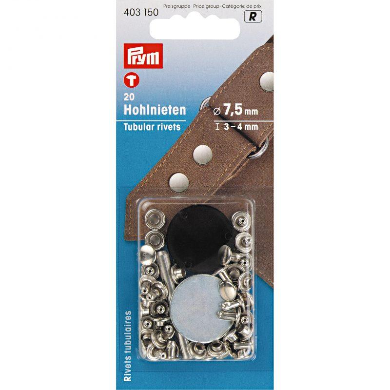 Rivets  tubulaires pour epaisseur 3-4 mm laiton argente