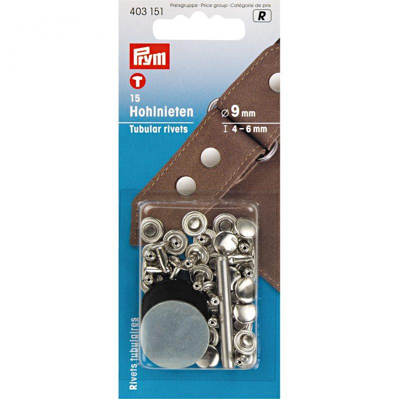 Rivets  tubulaires pour epaisseur 4-6 mm  laiton argente