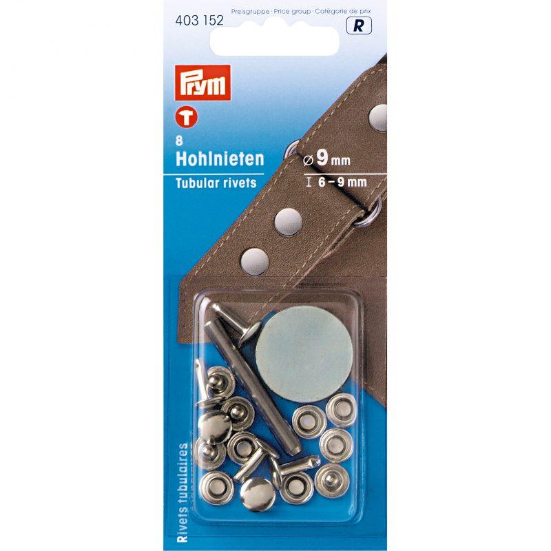 Rivets  tubulaires pour epaisseur 6-9 mm  laiton argente