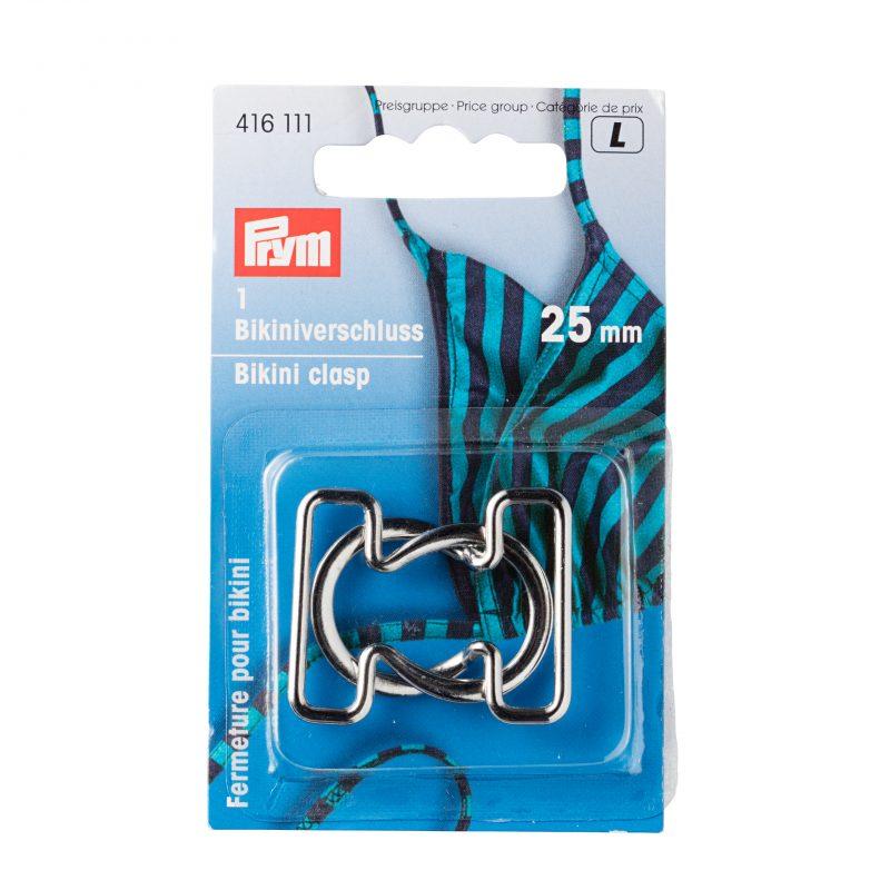 Clips  pour bikinis & ceintures 25 mm boucle acier argent