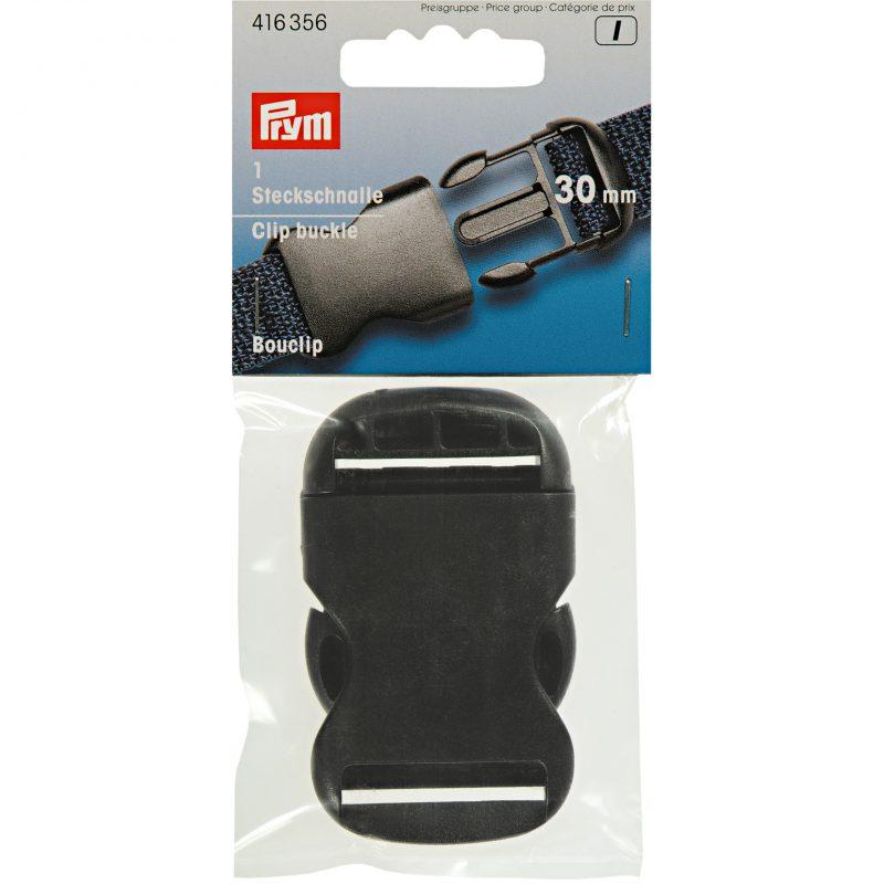 Bouclip  30 mm   plastique noir