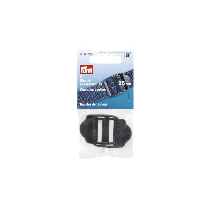 Boucle de reglage plastique 25 mm noir