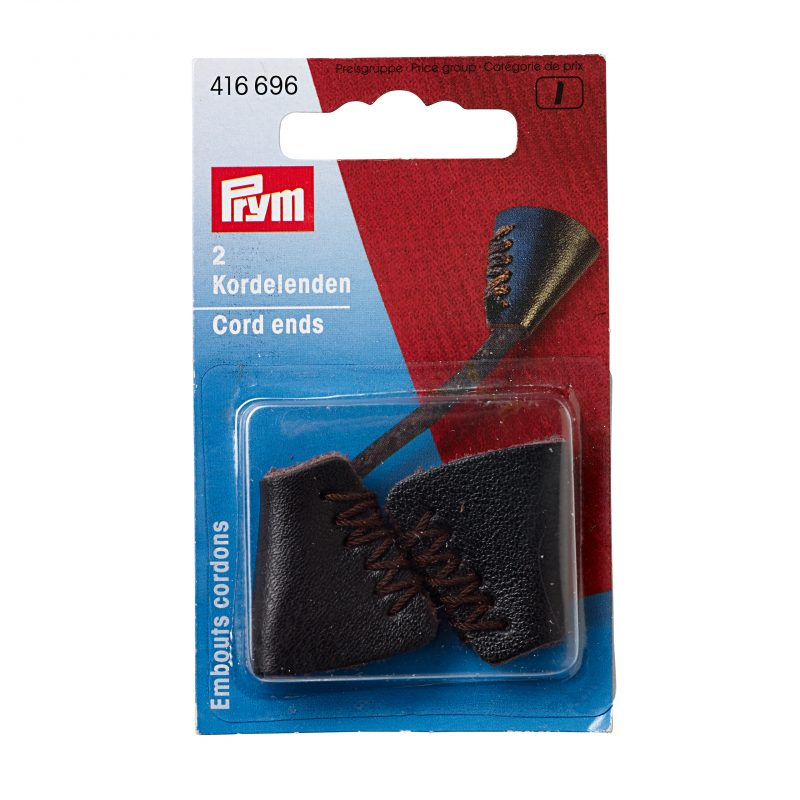 Embouts cordons cuir 25 mm brun