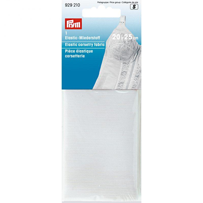 Piece  elastique corsetterie 20 x 25 cm blanc