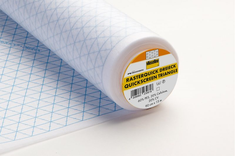 Vlieseline rasterquick a triangles  90cm - rouleau 15m