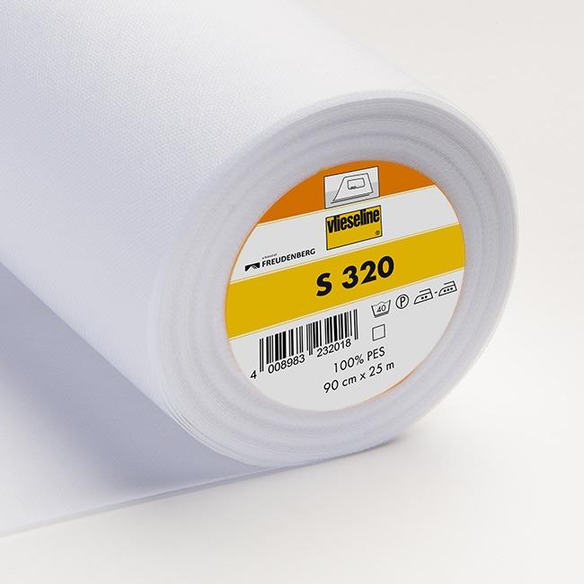 Vlieseline s320 pour cantonnière thermo - polyester l.90cm pce de 25m